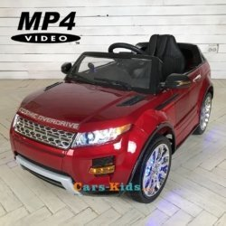 Электромобиль Range Rover Luxury SX118-S MP4 красный (сенсорный дисплей, резина, кожа, пульт, музыка)