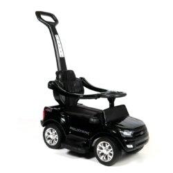Электромобиль - каталка Ford Ranger DK-P01-P черный (2 в 1, колеса резина, кресло кожа, свет фар, музыка)